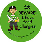 Beware! I Have Food Allergies Pirate Sticker Pack