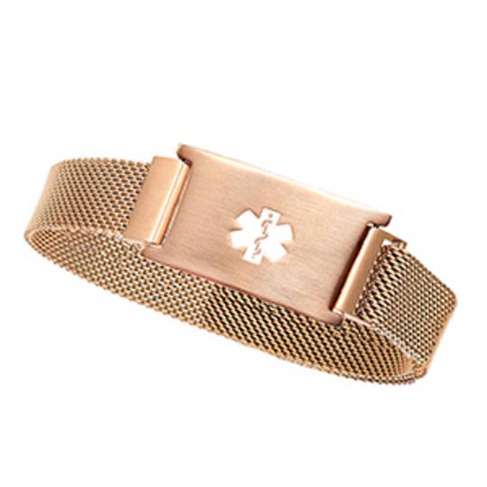 Rose Gold Stainless Magnetic Medical Bracelet