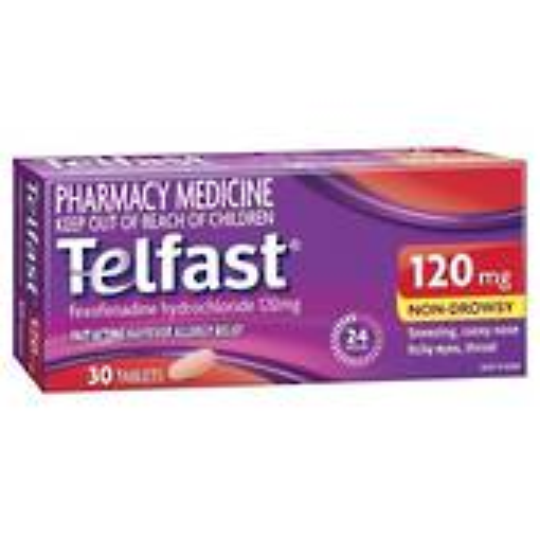 Telfast 120mg Tablets (Fexofenadine)