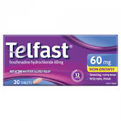 Telfast 60mg Tablets (Fexofenadine)