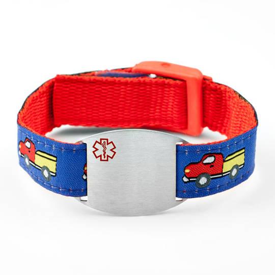 Medical Alert Sport Band Bracelet with Engravable Plaque (various colours)