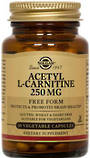 Solgar Acetyl L Carnitine 250mg 30 Vegicaps