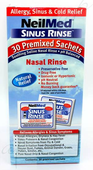 Neilmed Sinus Rinse Nasal Wash Premixed Sachets