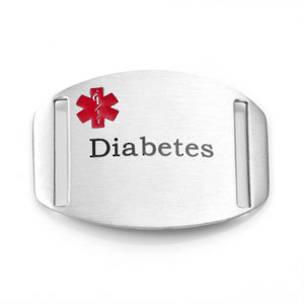Stainless Steel Medical Alert Plaque - Diabetes