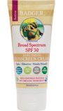Badger SPF 30 Unscented Sunscreen with Zinc Oxide 87ml