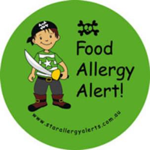 Food Allergy Alert Pirate Badge Pack
