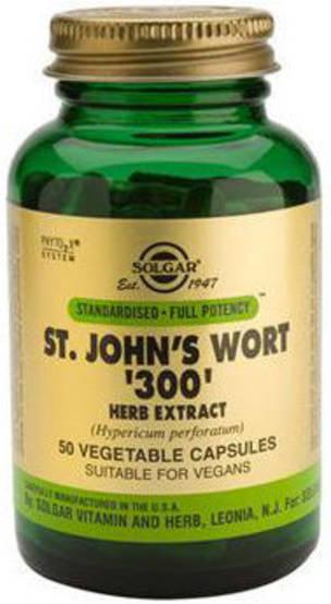 Solgar St John's Wort 300mg 50 Vegicaps