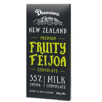 Donovans  Feijoa Milk Chocolate Block 100g