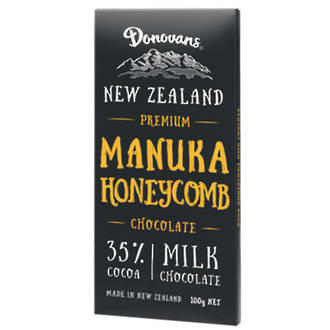 Donovans  Manuka Honeycomb Milk Chocolate Block 100g