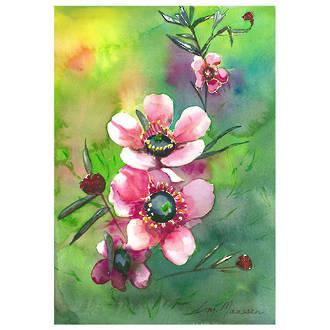 """Card """"Pink Manuka"""""""
