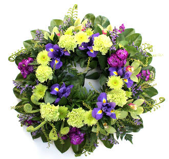 Purple and Yellow Wreath