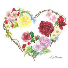 "Valentines Card ""Heart Wreath"""
