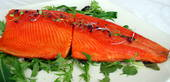 Hot manuka smoked salmon