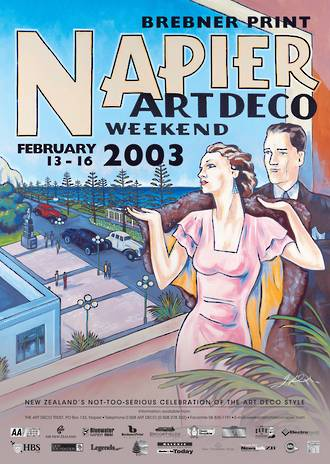 2003 Art Deco Weekend Poster