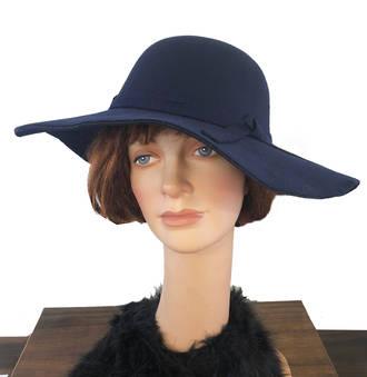 Wide Hat - Navy