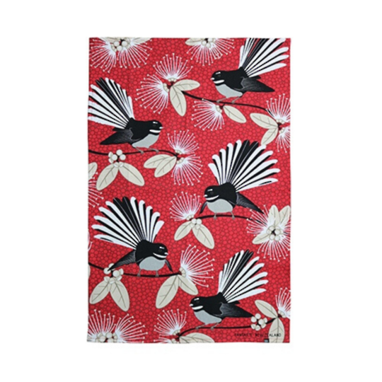 Flirting Fantails Red