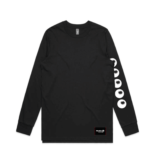Bombs on Sleeve Black LS