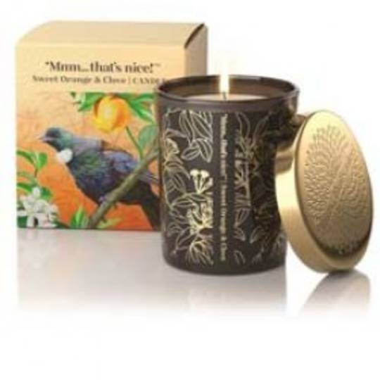 SWEET ORANGE & CLOVE SCENTED CANDLE