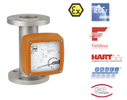 Full Metal Variable Area Flowmeter / Counter BGN