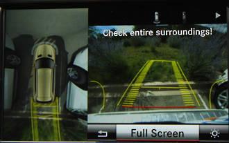 Mercedes top view camera retrofit