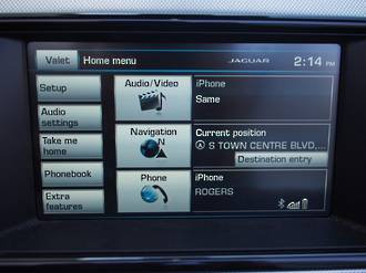 Jaguar F-type GPS Navigation UK import 2013-