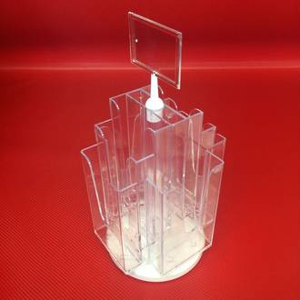 DLE x8 Desktop Revolving Brochure Holder