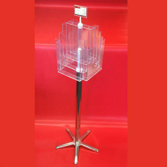 A4x8 Floor Stand Revolving Brochure Holder no castors
