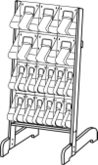 "(58941) ""Stand-Tall"" Literature Rack, 6 x A4, 12 x DLE, Easel"