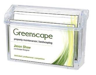 Outdoor Business Card Holder with Lid