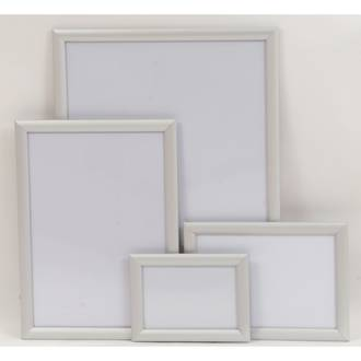 A2 Silver Square 25mm Snap Frame