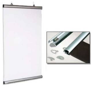 (841190) Aluminium Snap Rail Poster Hanging Kit, 1190mm