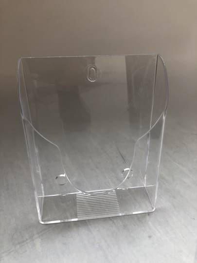 A5 Brochure Holder, Counter and wall mount clear
