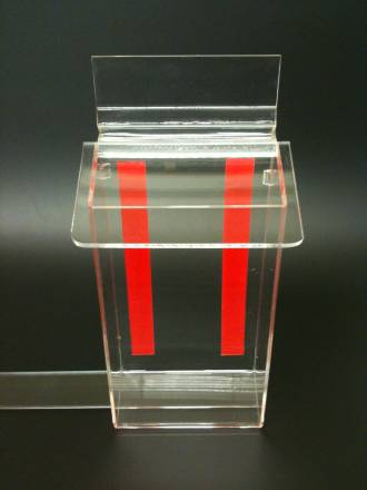 DLE Outdoor Brochure Holder Clear Lid