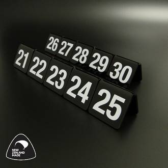 Black Table Numbers 21-30