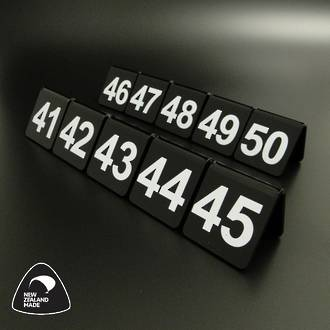 Black Table Numbers 41-50