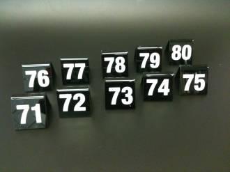 Black Table Numbers 71-80