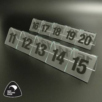 Clear Table Numbers 11-20