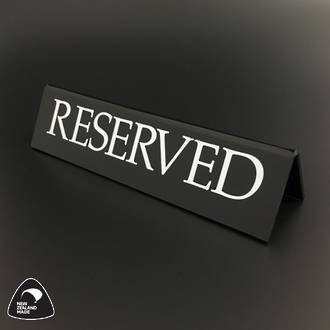 Small Black RESERVED Table Sign
