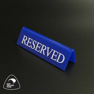 Small Blue RESERVED Table Sign