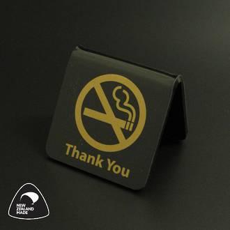 Black/Gold No Smoking Table Signs