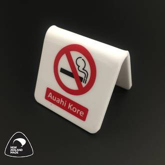 White/Red/Black Auahi Kore Table Signs