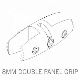 Axis Double Panel Grip 8mm