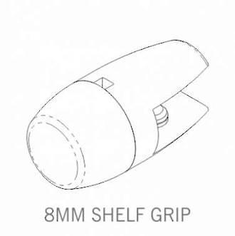 Axis Shelf Grip 8mm