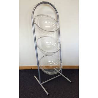 Triple Bowl Display Stand Set