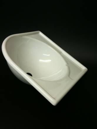 Caravan Large Corner Sink White Acrylic