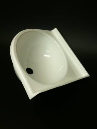 Caravan Small Corner Sink White Acrylic
