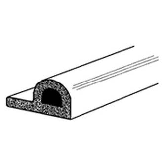 (DGDE908) EPDM P Strip White Draught Excluder 5m Roll