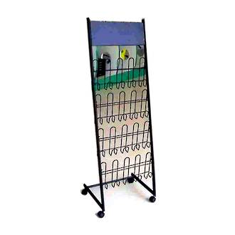 Literature Display Rack, Wire, Black, Single-sided, A4 x 8