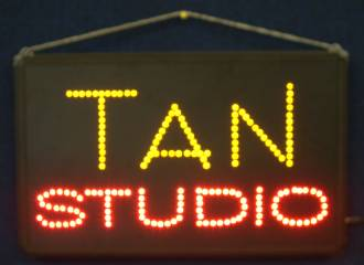 (LED-SIGN-19) LED Flashing TAN STUDIO Sign