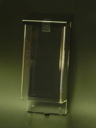 (OBHDL) Outdoor Brochure Holder, Clear with Black Lid, DL